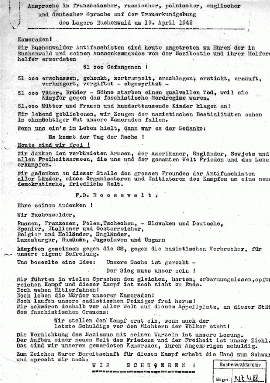 Schwur von Buchenwald Kopie